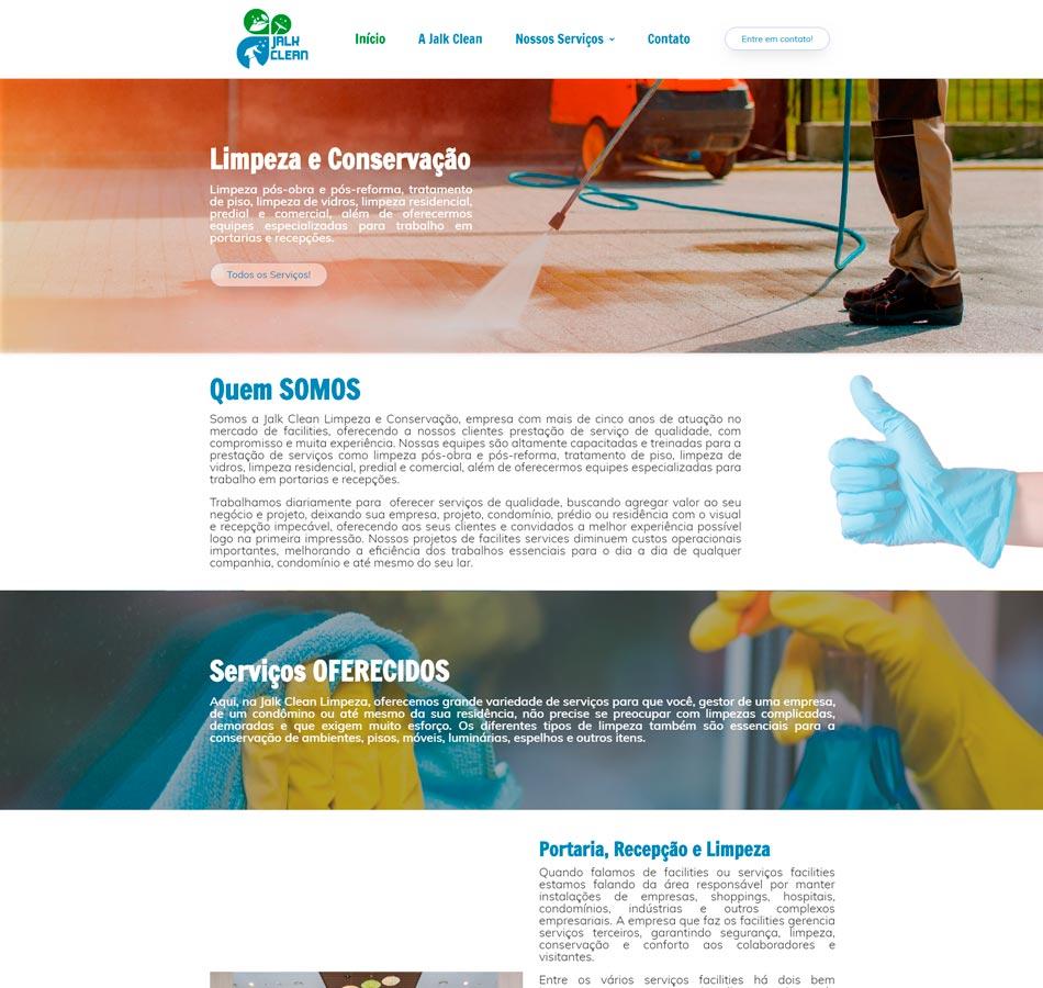Criação de site para empresa de limpeza