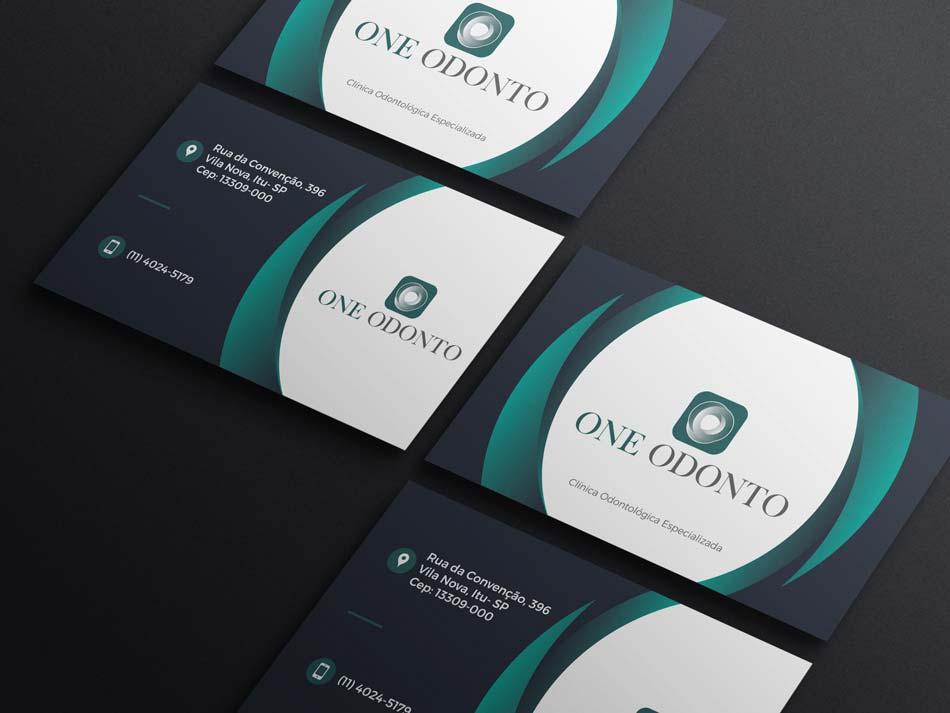 Criação de arte para cartão de visita para clínica ondontológica especializada