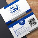 Criação de arte para cartão de visita para empresa de projetos de ar condicionado