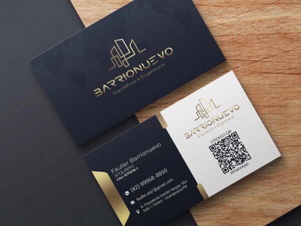 Criação de cartão de visita para empresa de arquitetura e engenharia