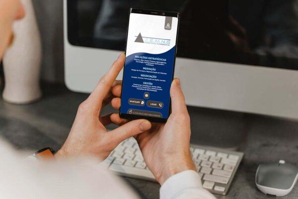 Criação de cartão digital para empresa de consultoria empresarial