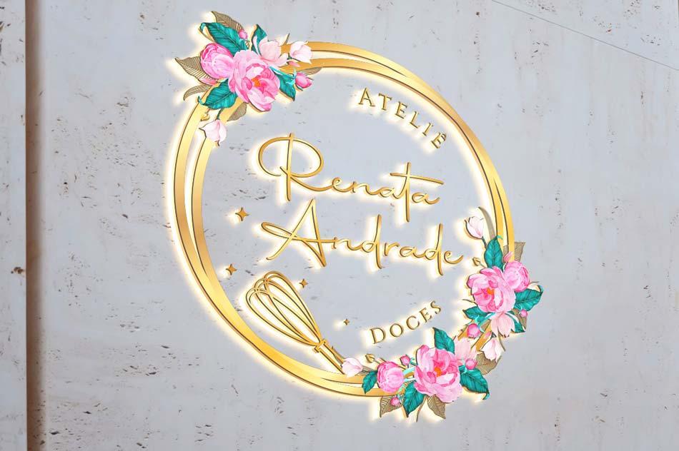 Criação de logotipo para ateliê de doces