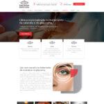 Criação de site de múltiplas páginas para clínica de olhos