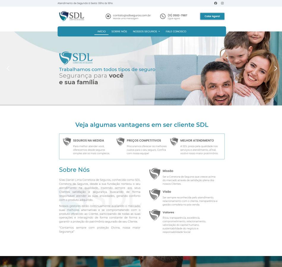 Criação de site de múltiplas páginas para corretora de seguros