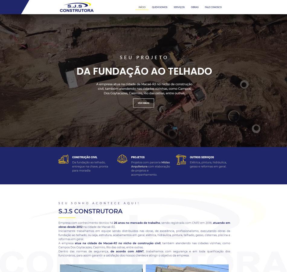 Criação de site one-page para construtora