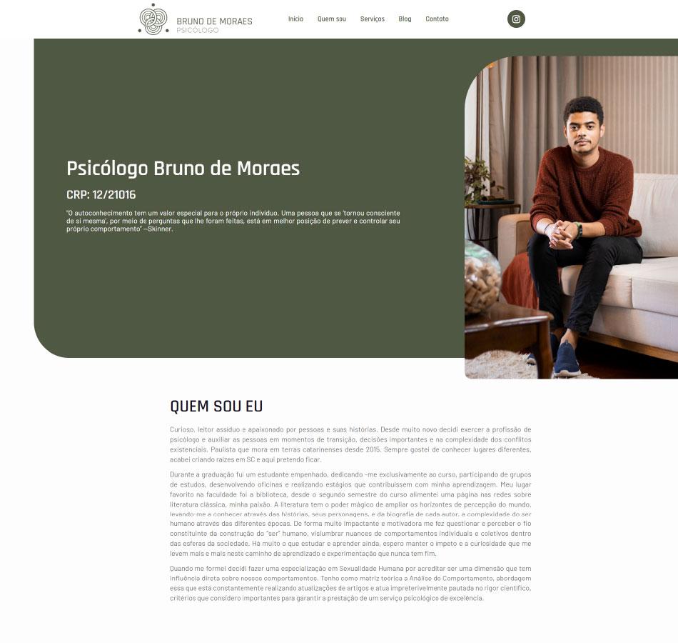 Criação de site one-page para psicólogo
