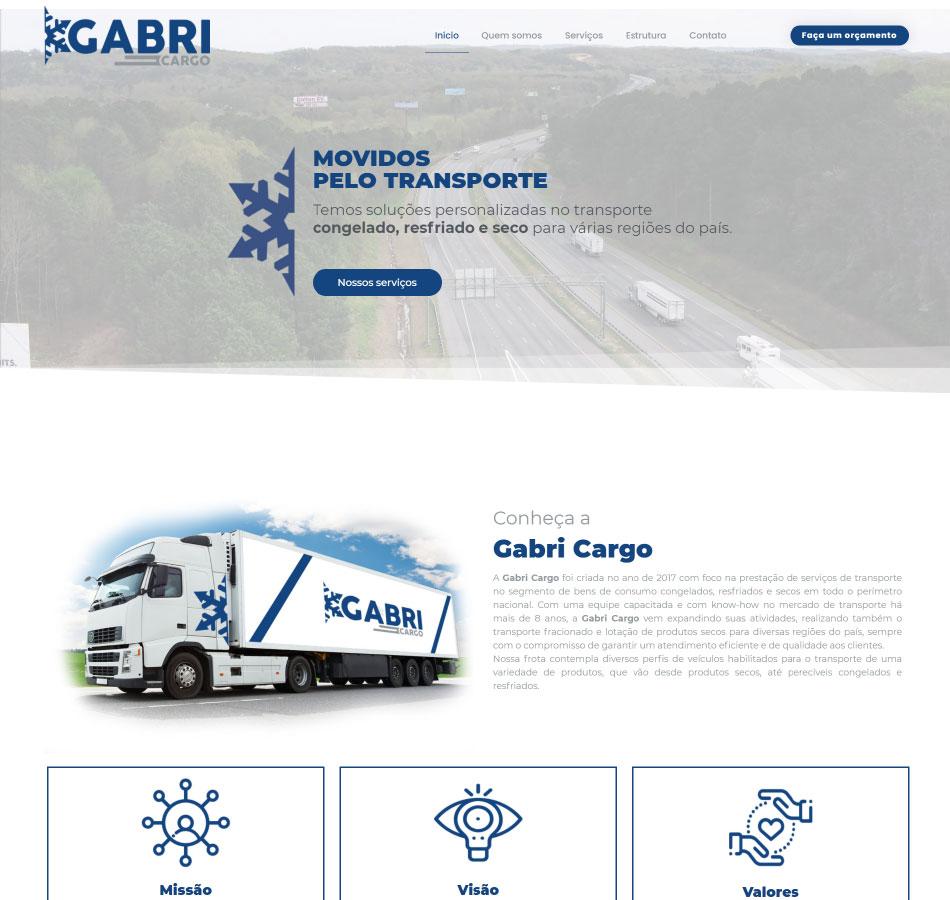 Criação de site para emprega de carga