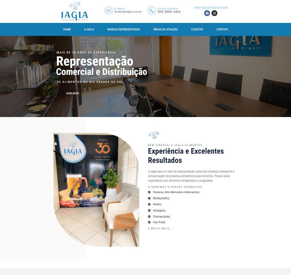 Criação de site para empresa de alimentação