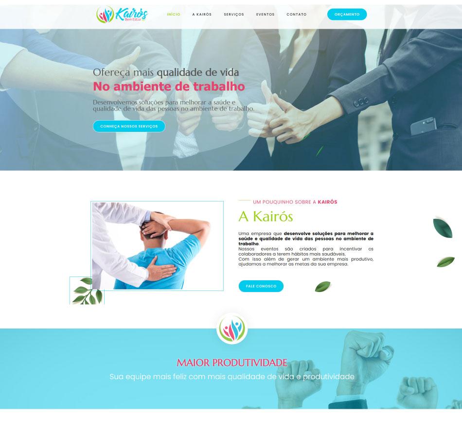 Criação de site para empresa de bem estar