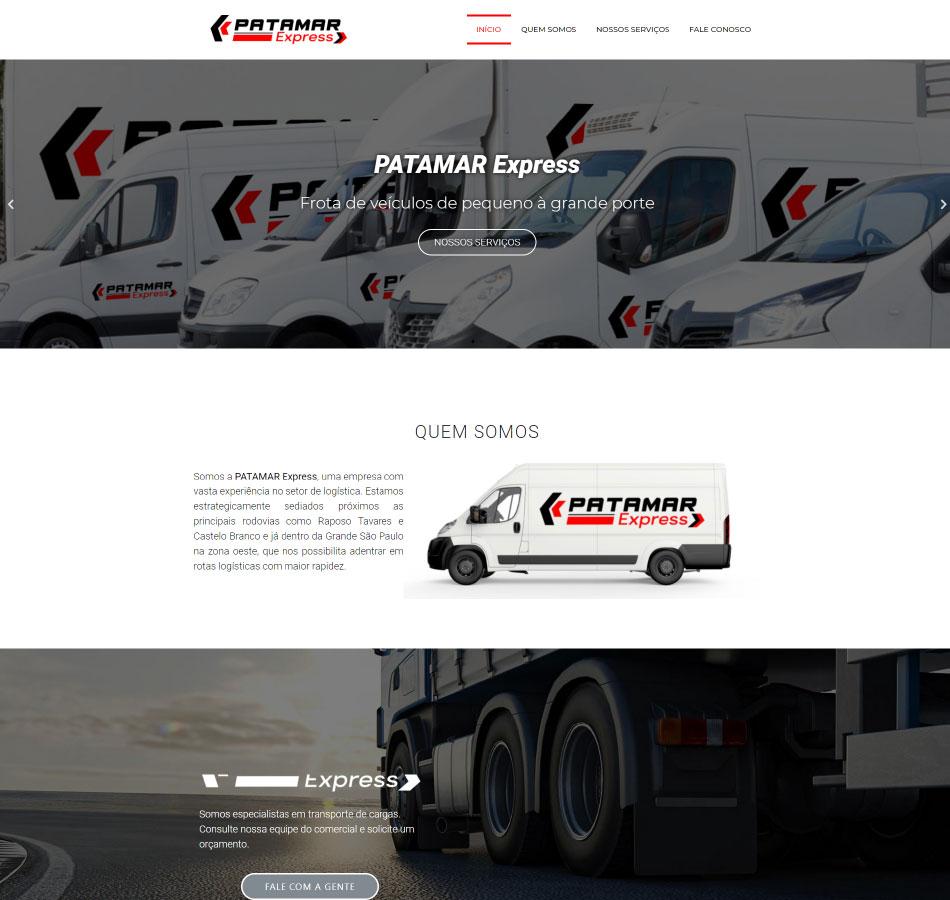 Criação de site para empresa de transporte express